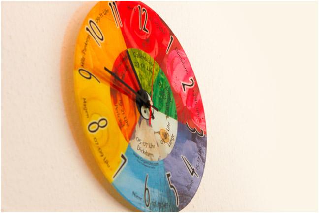 Uhr fünf Elemente